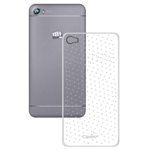 Casotec Soft Dotted TPU Back Case Cover for Micromax Canvas Fire 4 A107 - Clear  available at amazon for Rs.125
