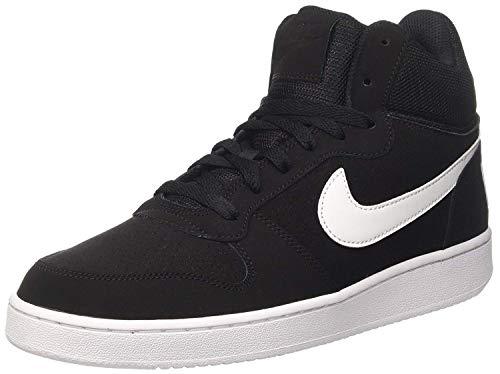 Nike Herren Court Borough Mid Basketballschuhe, Schwarz (Black / White), 40 EU - Nike Herren Schuhe Hightop