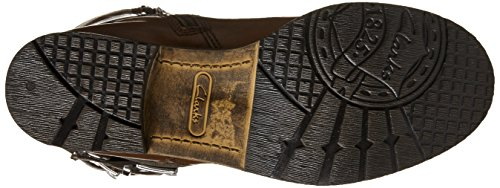 Clarks Volara Melody Motorrad-Stiefel Rust Leather