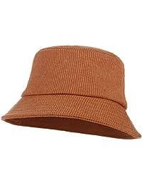612d3df03bf Gemvie Unisex Cotton Foldable Bucket Hat Travel Outdoor Sun Protection  Bucket Fisherman Hat