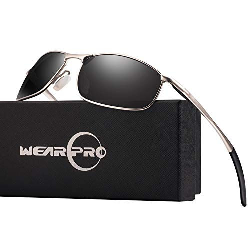 3d90a10d86 wearPro Men s Sport Polarized Metal Frame Sunglasses HD Lens Hot Fashion  Sunglasses for Men WP1015(