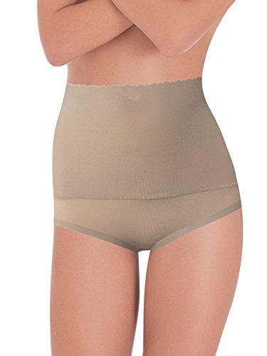 Lady bella lingerie guaina contenitiva e modellante g3010 con fascia in microfibra elastica sull'addome con azione riducente su pancia, bordo girogamba ultrapiatto (nudo, xlarge/xxlarge)
