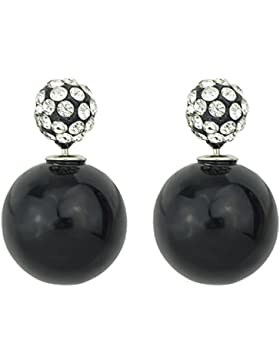 Feelontop® neue Art und Weise Süßigkeit Farben nachgemachte Perle und Rhinestone Doppelkugel Bolzen Ohrringe mit...