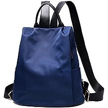 WDILO - Mochila impermeable de poliéster de alta calidad con doble uso, para actividades al aire libre, actividades al aire libre, para mujeres y niñas (azul oscuro)