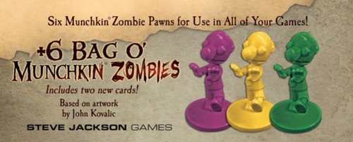 Steve Jackson Games SJG05568 Brettspiel +6 Bag O'Munchkin Zombies (Munchkin-brettspiel)