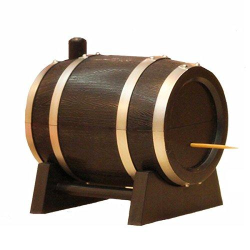 BESTOMZ Weinfass Zahnstocher Halter Box Zahnstocher Storage Container Zahnstocher Dispenser Zubehör für die Küche (zufällige Farbe)