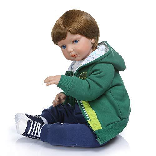 Minsong 70 cm Prinzessin Puppe, Weiches Vinyl Silikon Lebensechte Reborn Babypuppe Neugeborenen Puppen (mit Box)