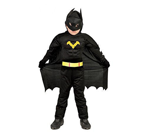 Costume vestito batman supereroe carnevale bambino taglia 3-4 anni