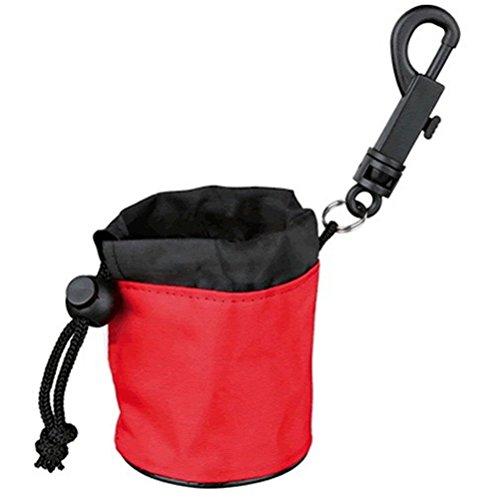 Wewod Dog Activity Snack-Tasche Gürteltasche für Leckerlies-Atmungsaktive/Wasserdichte Rot