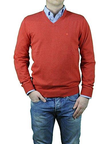 Redmond - Herren Pullover mit V-Ausschnitt in verschiedenen Farben (Art.Nr.: 600) Braun (37)