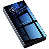 TOVAOON Wireless Portable Charger, 20000mAh wireless charger Power Bank Battery Pack with LED