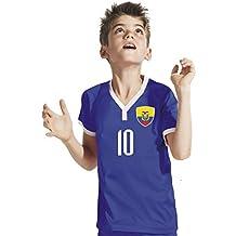 Ecuador Niños Pantalones – Camiseta del surtidor Incluye Impresión Nombre Personalizado + nº BBB WM 2018