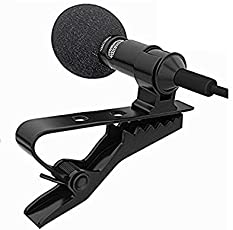 JMAGS E_57000455 3.5mm Clip-on Mini Lapel Lavalier Microphone for Android/iOS Device (Black)