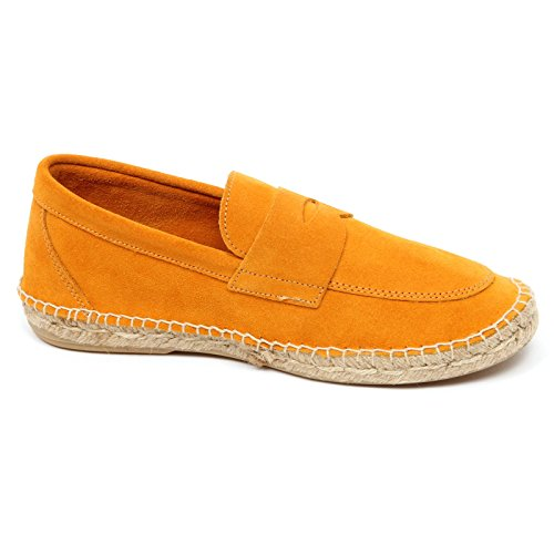 ABARCA D2580 mocassino uomo orange leather espadrillas loafer shoe man Arancione chiaro