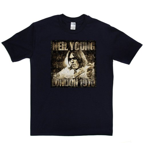 Rock-legende T-shirt (Neil Young 70 T-shirt (navy/colour xlarge))
