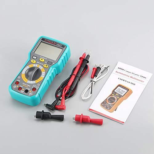 Multimètre numérique pour Automobile 2900A, testeur de diodes de Test de diodes AC/DC en Volts ampères Ohm - Gris & Bleu
