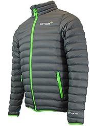 Unisex acolchada chaqueta cálido térmica impermeable chaqueta senderismo polyfill, Sawya – Storm/Pacífico, Storm, Firefly