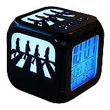 Acctin Beatles Abbey Road Creative 3D Stereo Wecker LED Nachtlicht Elektronische Nachttischlampe Schlafzimmer - Bunte Steigung