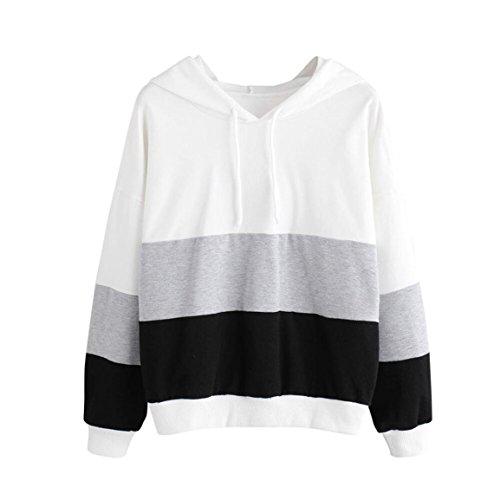 Nike-frühling (Moonuy Frauen Hoodies, Mode Heißer Verkauf Frauen Mädchen Hoodie Jumper Langarm Splice Sweatshirt Frühling/Herbst/Winter Pullover Freizeit Sweatshirt in 2 Farben (M, Grau))