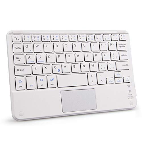 Faltbare Bluetooth-Tastatur Mit Touchpad Drahtlose, Schlanke, Tragbare Minitastatur Für Tablet-Telefone, Laptop-Desktops Und Andere Bluetooth-Geräte,Gray (Laptop-touchpad)