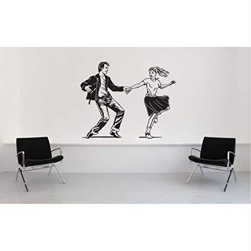 mmwin Pudel -Rock -Nette Wandtattoo Sattel -Schuhe Der1950Er Jahre Art -Kunst -Wand -Aufkleber -Hauptdekor-Vinyltapete75 * 92Cm