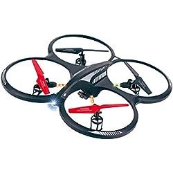 Ansmann RC X-Drone XL Camera RtF - drones con cámara (Negro, Gris, Rojo, Hacia atrás, Descendente, Adelante, Giro a la izquierda, Giro a la derecha, Ascendente, Polímero de litio, MicroSD, MicroSD (TransFlash))