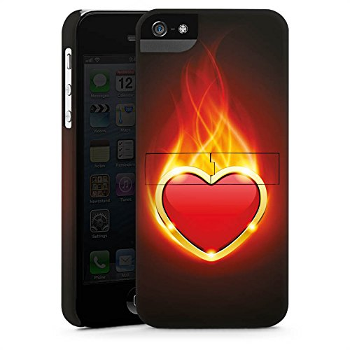 Apple iPhone 4 Housse Étui Silicone Coque Protection C½ur Flammes CasStandup blanc