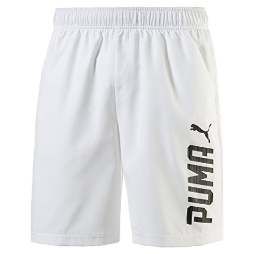 Puma Herren Rebel Woven Shorts Bianco