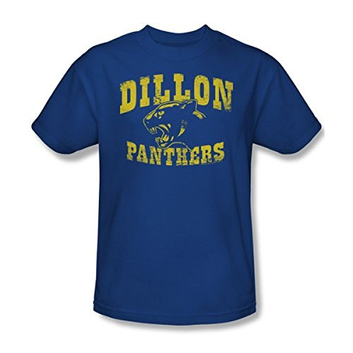 Friday Night Lights Dillon Panthers Distressed Royal blau Erwachsene T-Shirt (XXX-Large) -
