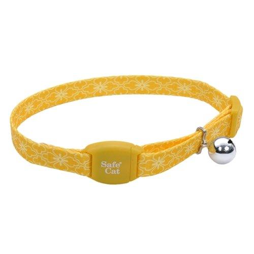 Coastal Products Safe Cat Adjustable Breakaway Golden Flower Bouquet Collar 3/8 inch