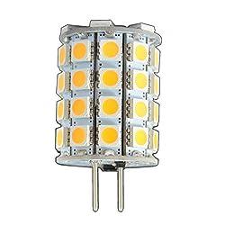 G6.35/GX6.35 LED 6 Watt 49x 5050 SMDs warmweiß A++ 12V~ AC/DC Wechselspannung 330° Stiftsockel Leuchtmittel Lampensockel Spot Halogenersatz Halogen Lampe [Energieklasse A++]