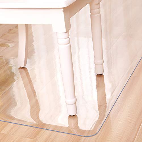 rutschfeste Bodenschutzmatte, 1 mm dick, Vinyl, Bürostuhl-Matte, kein Bisphenol A, kein Einwringen, für Büro, Computer, Schreibtischstuhl, rechteckig, Vinyl, Transparent 1.0mm, 120x150cm(47x59inch)