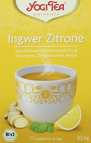 Yogi Tea Ingwer Zitrone Tee Bio, 3er Pack (3 x 30,6 g) -