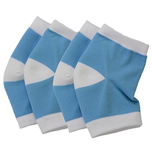 2 Paar Feuchtigkeitsspendende Silikon Gel Ferse Socken für Trockene Hart Rissige Haut Feuchtigkeitsspendende Offene Zehe Comfy Recovery Socken (Blau) -