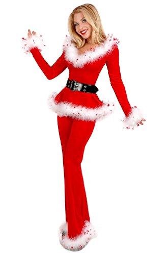 Schuhe Deadpool Kostüm (Shangrui Damen Weihnachts Outfit Club Bühnenkostüme Deep V Kragen Lange Ärmel Hose mit)