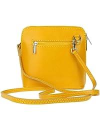 5b49a334ab Genuine Italian Leather Small Mini Cross Body Bag Women Shoulder Bag Vera  Pelle Handbag