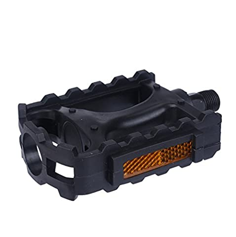 IGEMY Black Plastic leisure vehicle Mountain Road BIke Bicycle Pedals 1 Pairs (Black, 14MM)