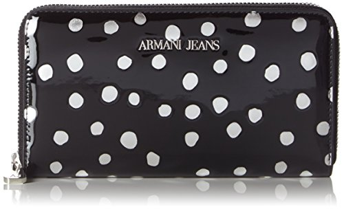 Armani Jeans9280886A734 - Portafogli Donna , Nero (Schwarz (NERO/ARGENTO 01020)), 10x2x19 cm (B x H x T)