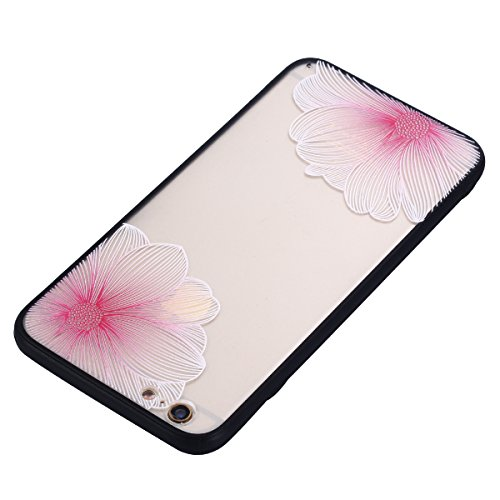 iPhone 6S Plus Hülle, Voguecase Silikon Schutzhülle / Case / Cover / Hülle / TPU Gel Skin für Apple iPhone 6 Plus/6S Plus 5.5(Schmetterling liebt Blumen 08) + Gratis Universal Eingabestift Große Pink Blume 01