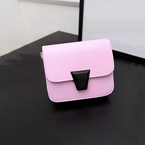 Transer, Borsa a spalla donna Black.White.Blue.Green.Pink Pink