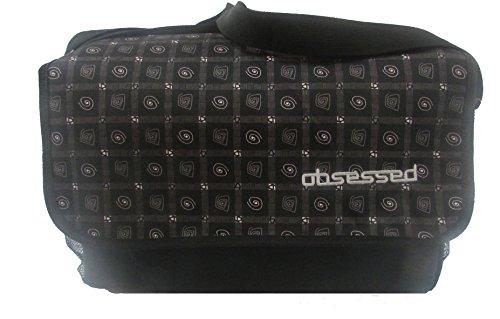Obsessed , Borsa Messenger  nero Black/Purple large Black/Circle Spirals