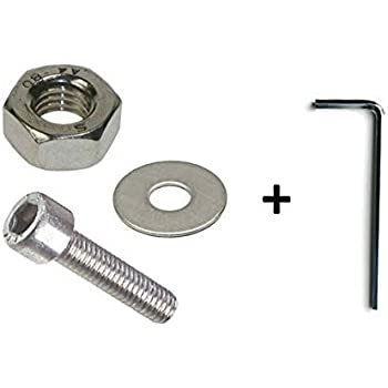 M6 x 30mm A2 Stainless Steel Socket Allen Key Dome Head Bolt Free Allen Key 4 Pack AHC 6mm Socket Button Head Setscrews Nuts and Washers