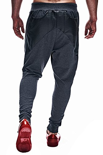 Leif Nelson Gerenzo LN500000 Pantalon de jogging pour homme Gris - Anthracite