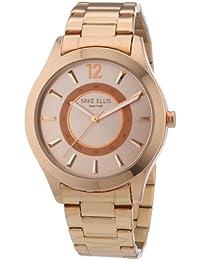 Mike Ellis New York M2756ARM - Reloj de cuarzo para mujer, correa de acero inoxidable chapado color dorado