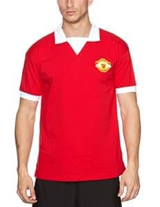 Score Draw Official Retro Football Maillot rétro Manchester United 1973 Numéro 7 Rouge