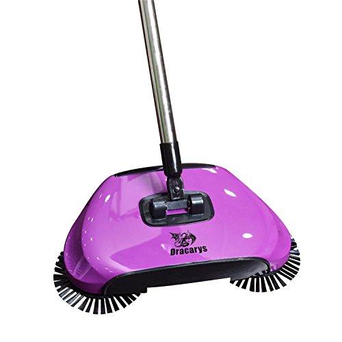 Dragon Flame Lazy 3 en 1 Ménage Main Push automatique Sweeper Balai – Y Compris Balai et pelle à poussière et...