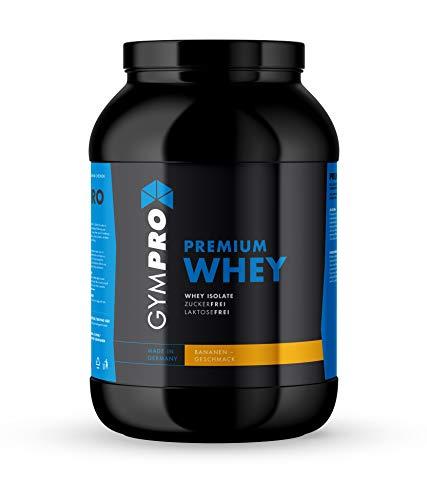 GymPro Premium Whey Protein Pulver zum Muskelaufbau und Abnehmen. Hydrolisiertes Whey Isolat & Whey-Konzentrat Eiweiß mit Aminosäuren (BCAA) laktosefrei - Hergestellt in Deutschland (Banane, 2500g)