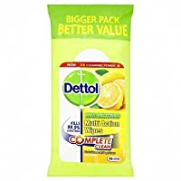 Dettol Anti-Bacterial Multi Action Wipes Citrus 72 Large Wipes