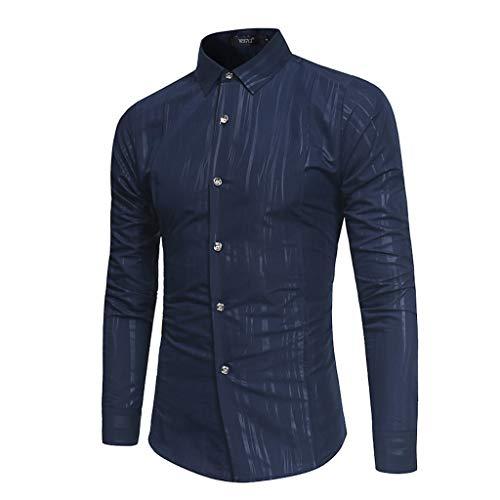 serliyHemd Herren Slim Fit aus Baumwolle Einfarbig Herrenhemden Langarm für Freizeit Business Hochzeit Freizeit - Langarm Hemden für Männer Langarmhemd