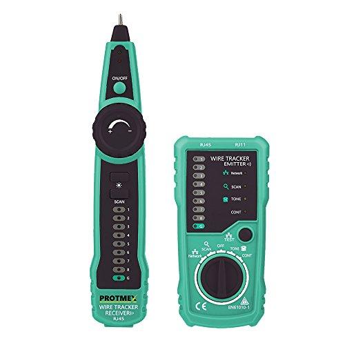 Protmex FY869 Multifunktions Wire Tracker RJ11 RJ45 Kabeltester für die Kollation des Netzwork Kabels, Telefonkabel , Durchgangsprüfung, die schwache Batterieanzeige
